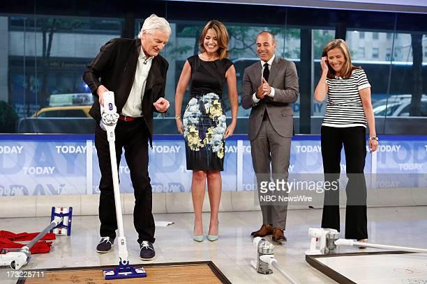 James Dyson Savannah Guthrie Matt Lauer and Meredith Vieira appear on NBC News' 'Today' show