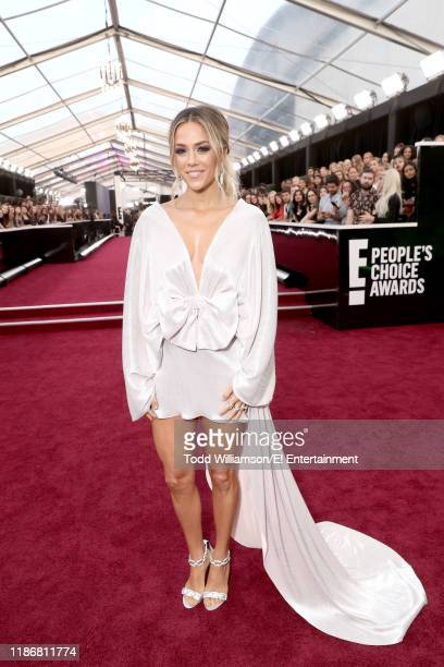 Pictured: Jana Kramer arrives to the 2019 E! People's Choice Awards held at the Barker Hangar on November 10, 2019. -- NUP_188990