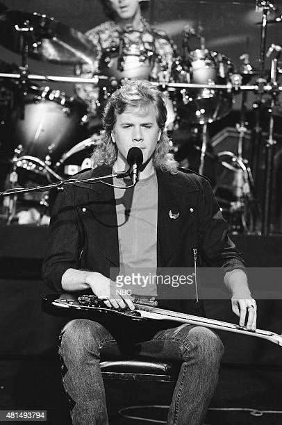 Pictured: Jeff Healey of the musical guest The Jeff Healey Band performs on December 20, 1990 --