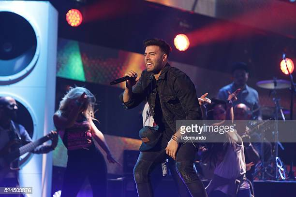Jencarlos Canela rehearses for the 2016 Billboard Latin Music Awards at the BankUnited Center in Miami Florida on April 25 2016