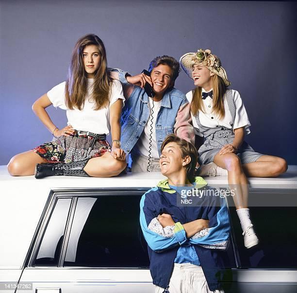 Jennifer Aniston as Jeannie Bueller Charlie Schlatter as Ferris Bueller Brandon Douglas as Cameron Frye Ami Dolenz as Sloan Peterson Photo by Alice S...