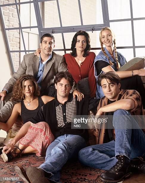 Jennifer Aniston as Rachel Green, David Schwimmer as Ross Geller, Courteney Cox Arquette as Monica Geller, Lisa Kudrow as Phoebe Buffay, Matt LeBlanc...
