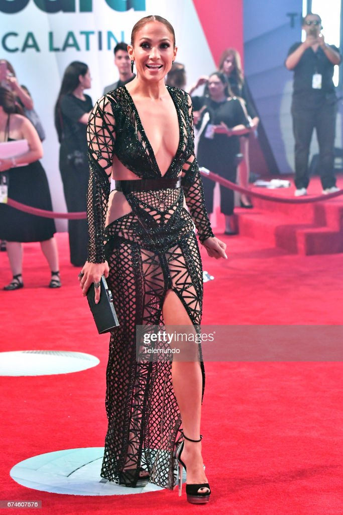 Jennifer Lopez on the Red Carpet at the Watsco Center in the University of Miami, Coral Gables, Florida on April 27, 2017 --