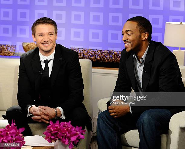 Jeremy Renner and Anthony Mackie appear on NBC News' Today show