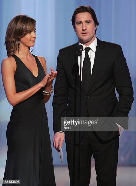 Jessica Alba and Luke Wilson on stage during The 63rd Annual Golden Globe Awards at the Beverly Hilton Hotel