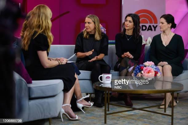 Jill Martin Maria Shriver Lindsay Crouse Taraneh Shirazian and Lisa Mosconi on Friday March 6 2020