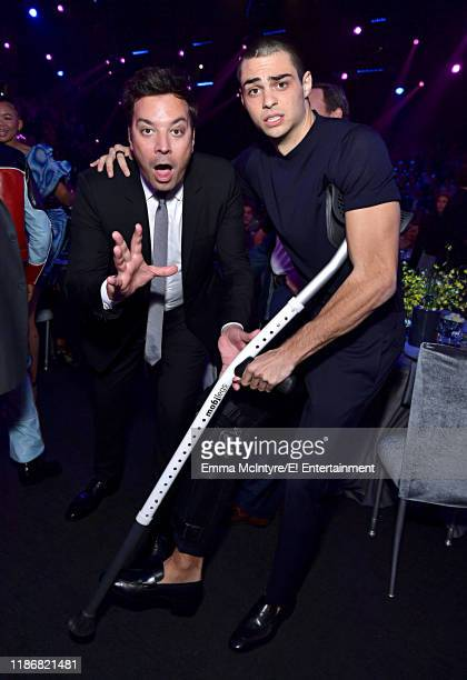 Jimmy Fallon and Noah Centineo attend the 2019 E People's Choice Awards held at the Barker Hangar on November 10 2019 NUP_188995