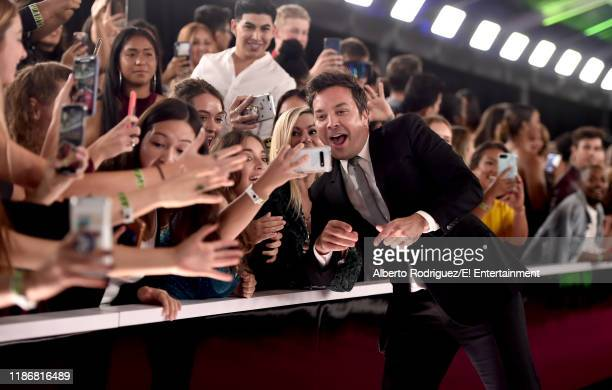 Jimmy Fallon arrives to the 2019 E People's Choice Awards held at the Barker Hangar on November 10 2019 NUP_188996