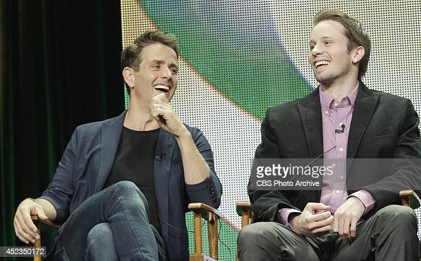 Pictured Joey McIntyre and Tyler Ritter during THE McCARTHYS session at TCA Summer Press Tour 2014 held on July 17th in Los Angeles Ca