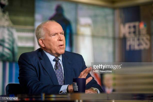 """Pictured: John Brennan, Former CIA Director appears on """"Meet the Press"""" in Washington, D.C., Sunday October 6, 2019."""