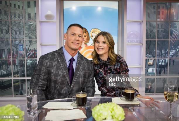John Cena and Jenna Bush Hager on Monday Jan 22 2018