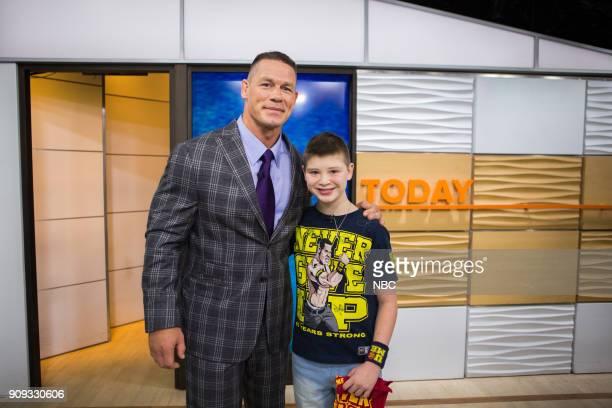 John Cena and Nick Santillo on Monday Jan 22 2018