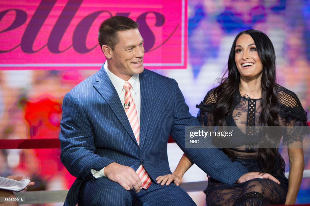 John Cena and Nikki Bella on Monday, August 21, 2017 --