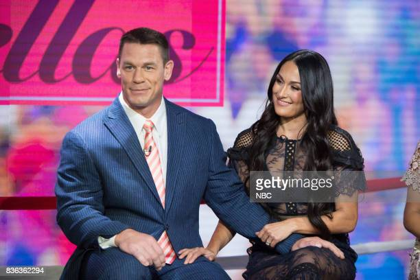 John Cena and Nikki Bella on Monday August 21 2017