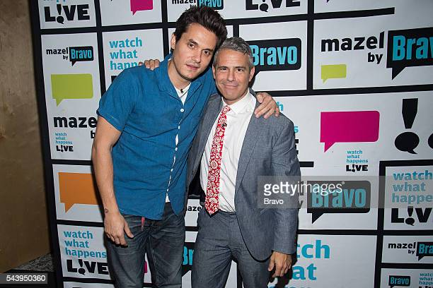 John Mayer and Andy Cohen