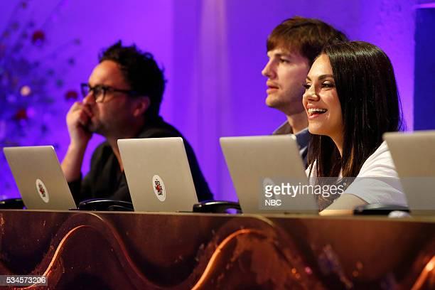Johnny Galecki Ashton Kutcher Mila Kunis