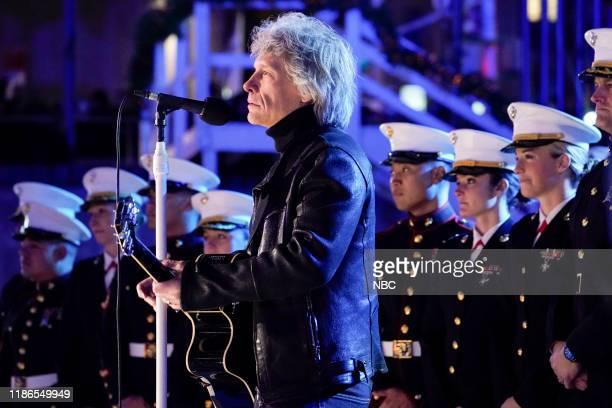 Pictured: Jon Bon Jovi rehearses for the 2019 Christmas in Rockefeller Center --