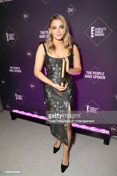 Josephine Langford poses backstage during the 2019 E People's Choice Awards held at the Barker Hangar on November 10 2019 NUP_188991