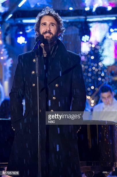 Josh Groban rehearses for the 2016 Christmas in Rockefeller Center