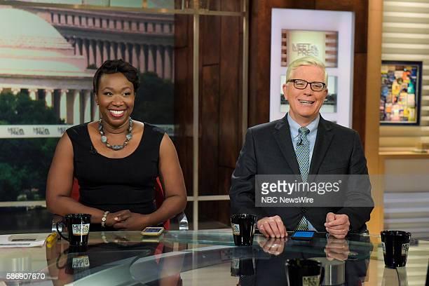 "Pictured: Joy Ann-Reid, Host, MSNBC's AM Joy, left, and Hugh Hewitt, Host, The Hugh Hewitt Show, right, appear on ""Meet the Press"" in Washington,..."