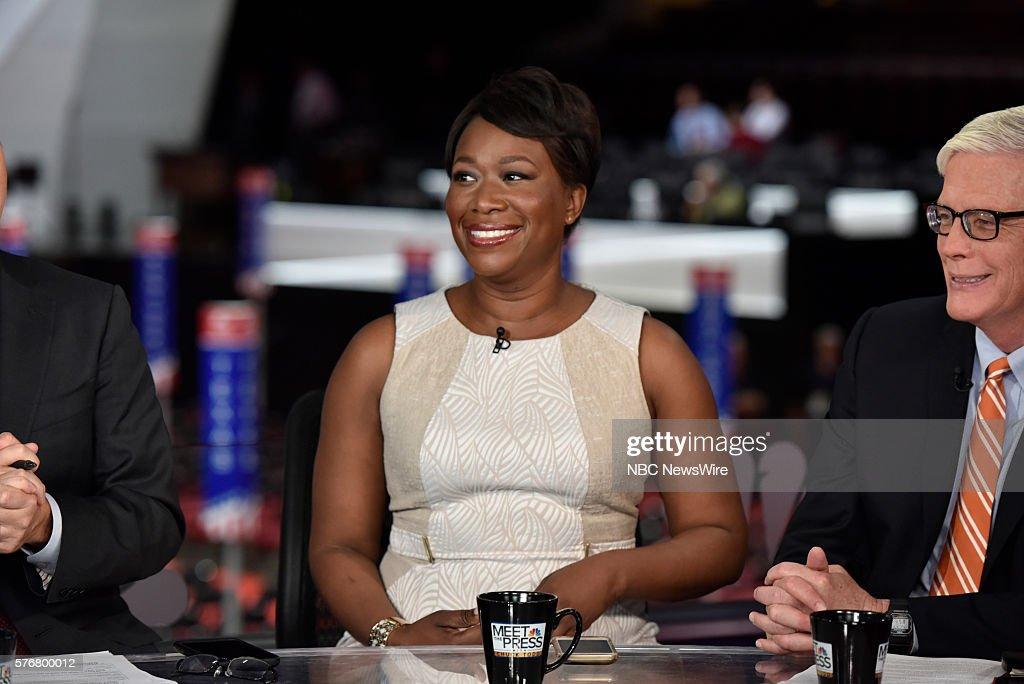 -- Joy-Ann Reid, Host, AM Joy, right, Hugh Hewitt, Host, The Hugh Hewitt Show appear on 'Meet the Press' in Cleveland, OH, Sunday July 17, 2016. --
