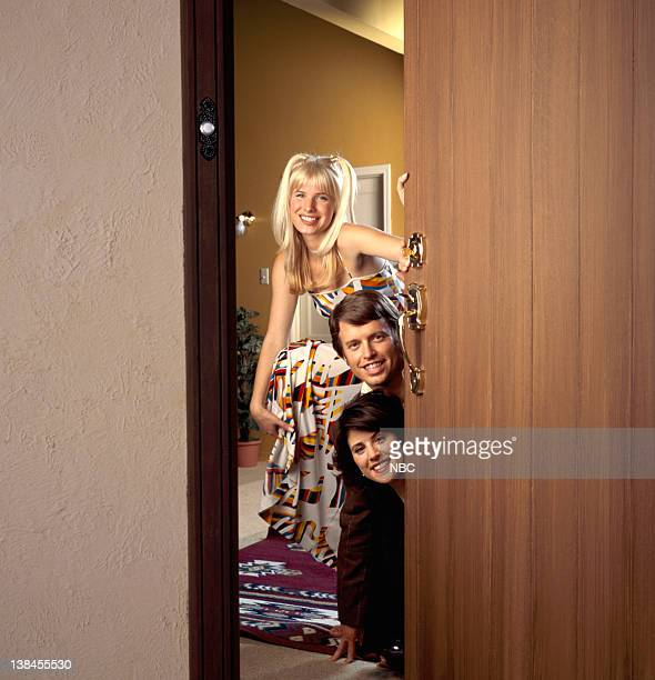 OF 'THREE'S COMPANY' Pictured Jud Tylor as Suzanne Somers Bret Anthony as John Ritter Melanie Deanne Moore as Joyce DeWitt