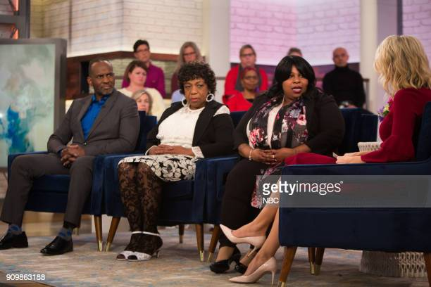 Julius Tennon Gwen Carr Samaria Rice and Megyn Kelly on Wednesday January 24 2018