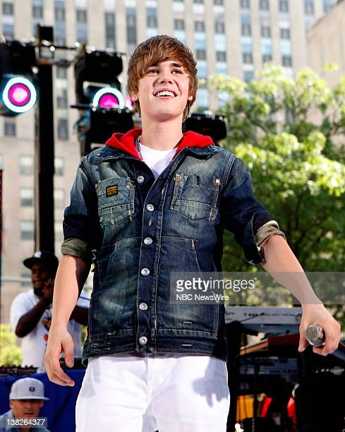 Justin Bieber performs on NBC News' 'Today' show