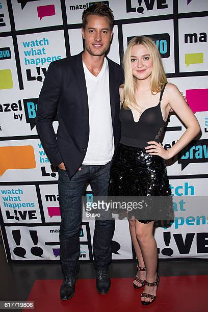 Justin Hartley and Dakota Fanning