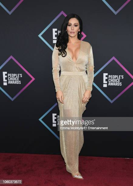 Pictured: JWoww arrives to the 2018 E! People's Choice Awards held at the Barker Hangar on November 11, 2018 -- NUP_185068 --