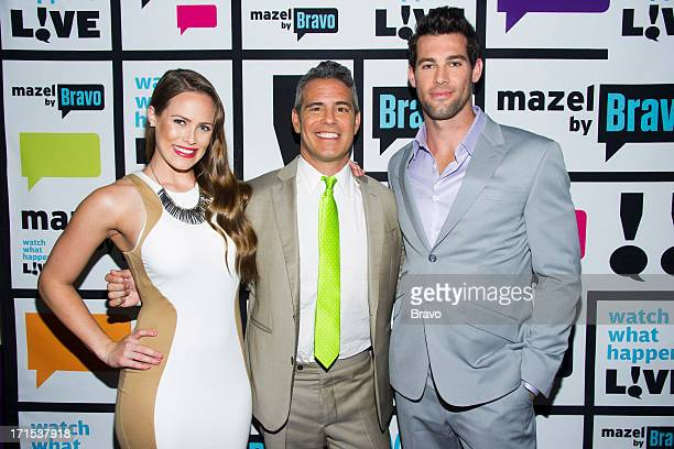 Kara Keough Andy Cohen and Shane Keough Photo by Charles Sykes/Bravo/NBCU Photo Bank via Getty Images