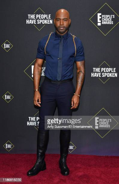 Karamo Brown arrives to the 2019 E People's Choice Awards held at the Barker Hangar on November 10 2019 NUP_188989