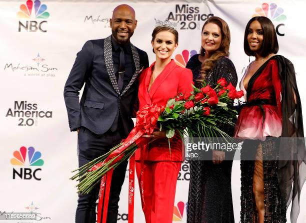 Pictured: Karamo; Camille Schrier, Miss America 2020; Lauren Ash; Kelly Rowland at Mohegan Sun in Uncasville, CT on Thursday, December 19, 2019 --