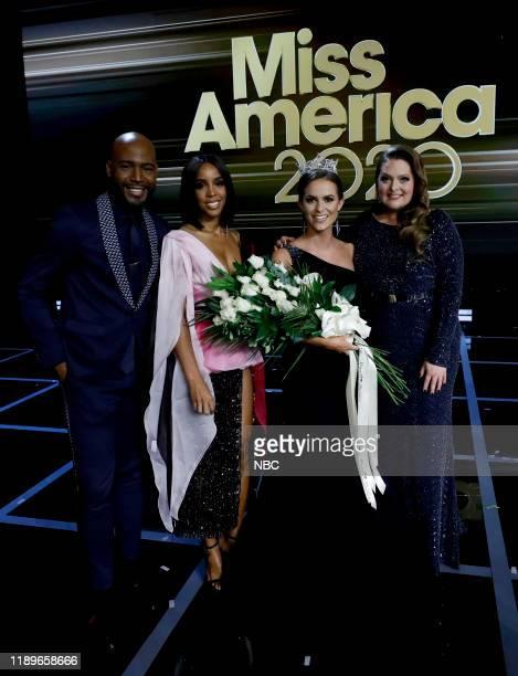 Pictured: Karamo; Kelly Rowland; Camille Schrier, Miss America 2020; Lauren Ash at Mohegan Sun in Uncasville, CT on Thursday, December 19, 2019 --