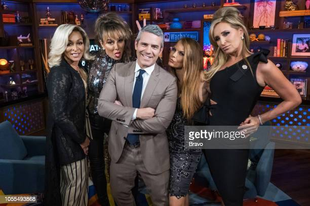 Karen Huger Kelly Dodd Andy Cohen Brandi Redmond and Sonja Morgan