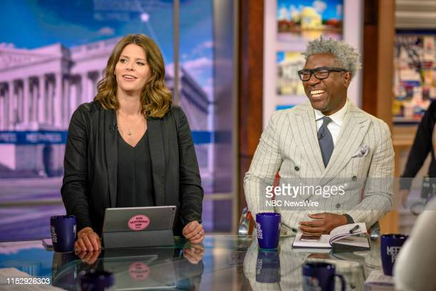 Kasie Hunt NBC News Capitol Hill Correspondent and Cornell Belcher Democratic Pollster appear on Meet the Press in Washington DC Sunday June 30 2019