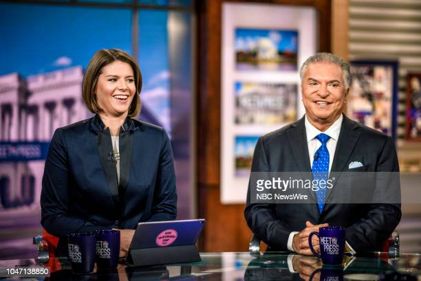 Kasie Hunt NBC News Capitol Hill Correspondent Host MSNBCs Kasie DC and Al Cardenas Republican Strategist Senior Partner appear on Meet the Press in...