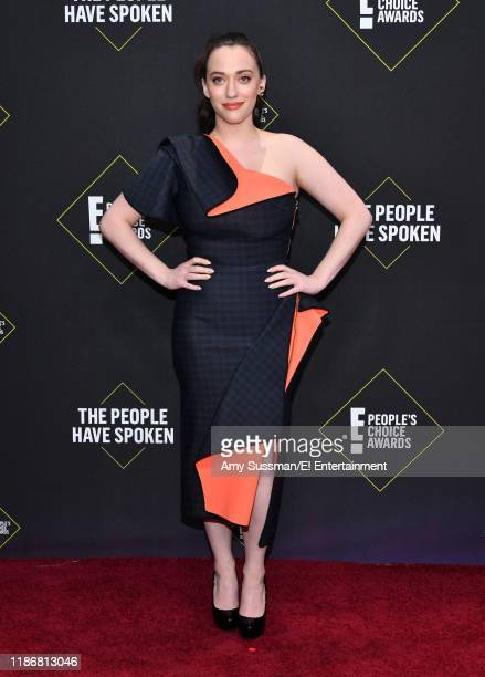 Pictured: Kat Dennings arrives to the 2019 E! People's Choice Awards held at the Barker Hangar on November 10, 2019 -- NUP_188989