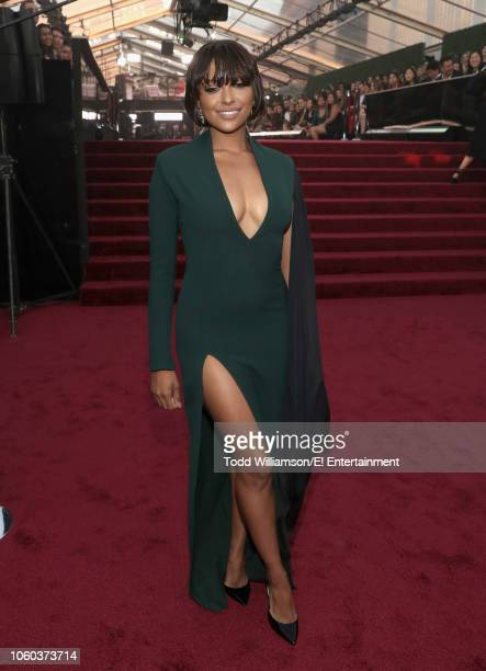 Kat Graham arrives to the 2018 E People's Choice Awards held at the Barker Hangar on November 11 2018 NUP_185069