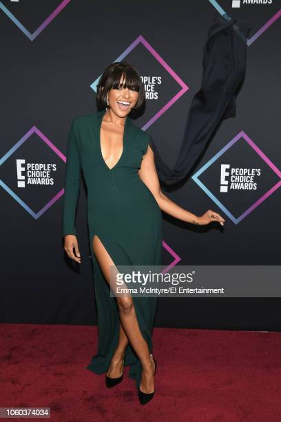 Kat Graham arrives to the 2018 E People's Choice Awards held at the Barker Hangar on November 11 2018 NUP_185068