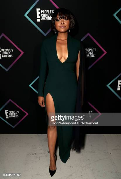 Kat Graham backstage during the 2018 E People's Choice Awards held at the Barker Hangar on November 11 2018 NUP_185073