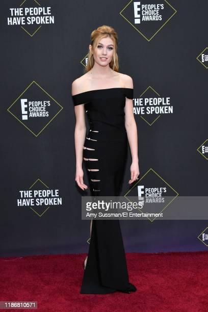 Katherine McNamara arrives to the 2019 E People's Choice Awards held at the Barker Hangar on November 10 2019 NUP_188989
