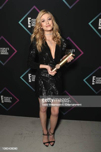 Katherine McNamara backstage during the 2018 E People's Choice Awards held at the Barker Hangar on November 11 2018 NUP_185073