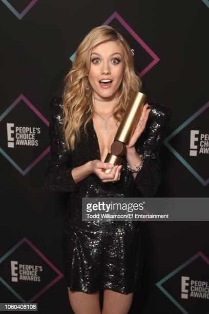 Katherine McNamara backstage during the 2018 E People's Choice Awards held at the Barker Hangar on November 11 2018 NUP_185073