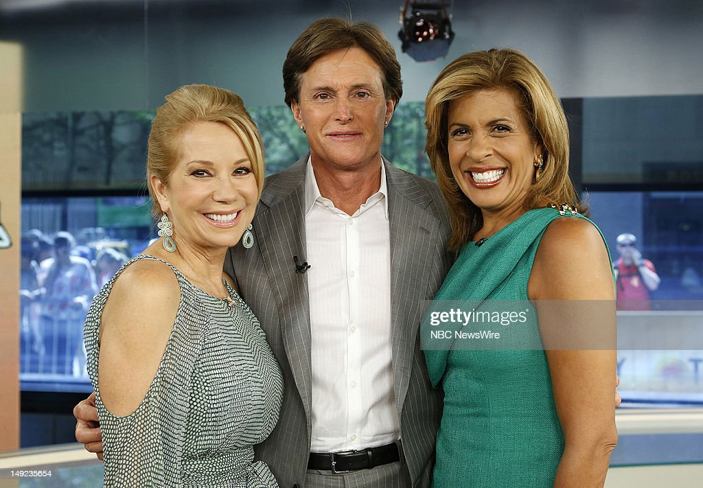 Kathie Lee Gifford, Bruce Jenner and Hoda Kotb appear on NBC News' 'Today' show --