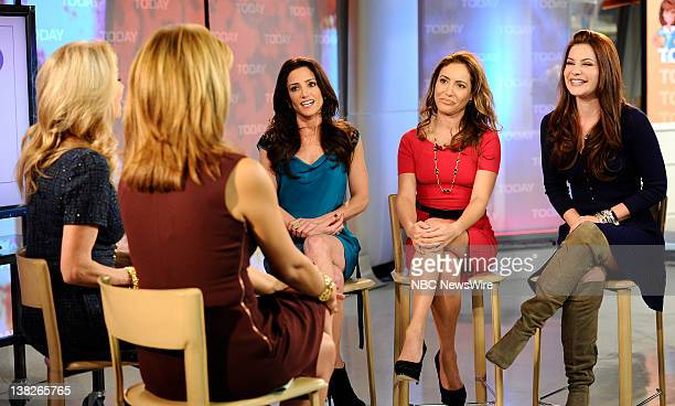 Kathie Lee Gifford Hoda Kotb Emily Morse Amy Laurent and Julia Allison appear on NBC News' Today show