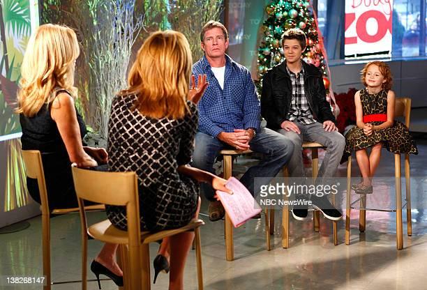"Kathie Lee Gifford, Hoda Kotb, Thomas Haden Church, Colin Ford and Maggie Elizabeth Jones appear on NBC News' ""Today"" show"