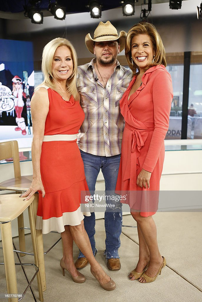 Kathie Lee Gifford, Jason Aldean and Hoda Kotb appear on NBC News' 'Today' show --