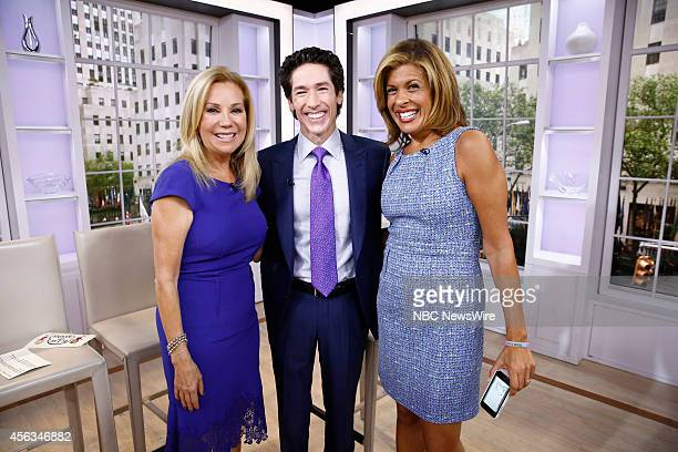 Kathie Lee Gifford Joel Osteen and Hoda Kotb appear on NBC News' 'Today' show