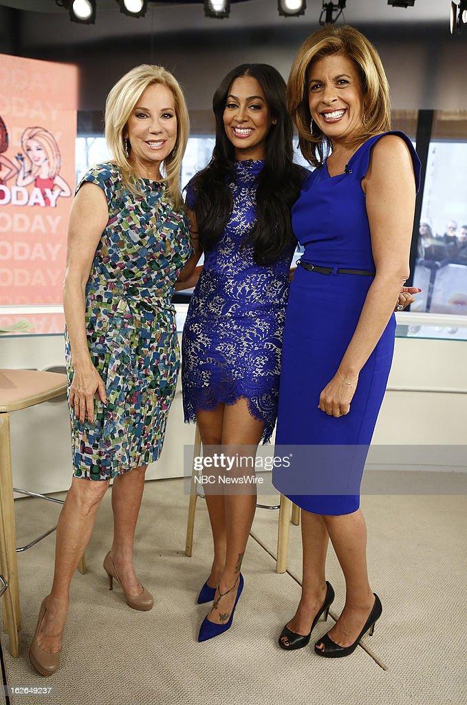 Kathie Lee Gifford, La La Anthony and Hoda Kotb appear on NBC News' 'Today' show --